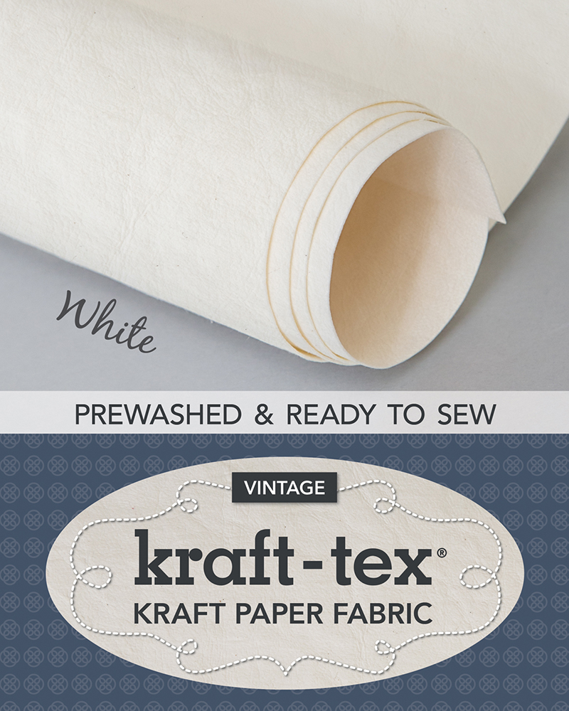 kraft-tex® Roll, White Prewashed