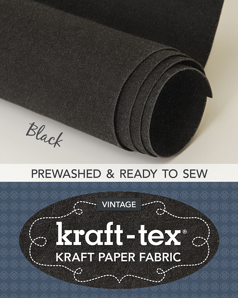 kraft-tex® Roll, Black Prewashed